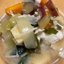 サツマイモと☆根菜たっぷりお味噌汁