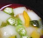 オクラの味噌汁