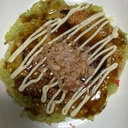 牛肉ブロッコリー紅生姜キャベツお好み焼き