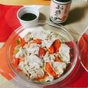 レンジで簡単☆ポン酢で食べる豚ロースのキャベツ蒸し