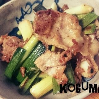スタミナ満点!にんにく葉の豚肉炒め