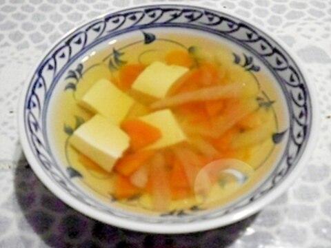 あっさり! 野菜と豆腐のすまし汁☆