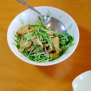 水菜とエリンギのバター醤油炒め