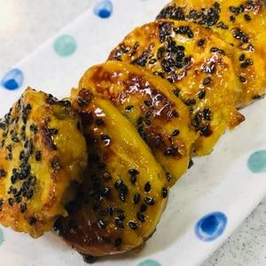 さつまいものゴマ餅☆バター醬油風味