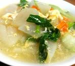 チンゲン菜と大根の中華スープ