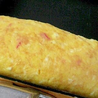 卵2個でお弁当にも✿白だしで❤カニカマの卵焼き