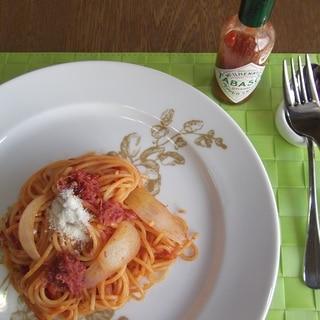 コンビーフ トマト パスタ