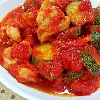 ✿鶏肉とズッキーニのトマト煮込み❤