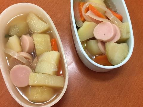 離乳食完了期☆魚肉ソーセージとじゃがいもの煮物☆