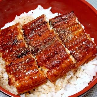 スーパーの鰻もふっくらおいしく変身☆うな丼