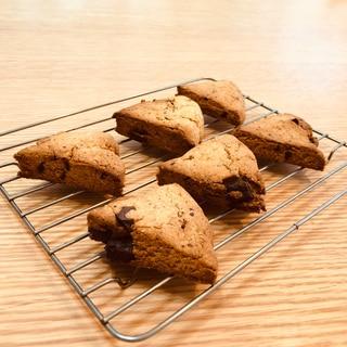 【糖質制限】おからパウダーで幸せ♡チョコスコーン