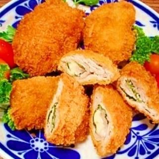豚小間切れ肉☆大葉チーズサンドフライ
