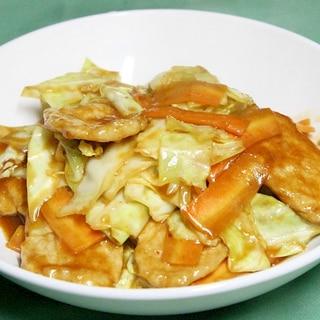 【簡単中華】豚肉とキャベツの甘辛味噌炒め♪
