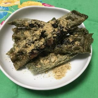 よもぎ餅と黒豆のワッフル