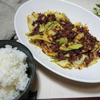 簡単おかず!ご飯がすすむ肉味噌キャベツ