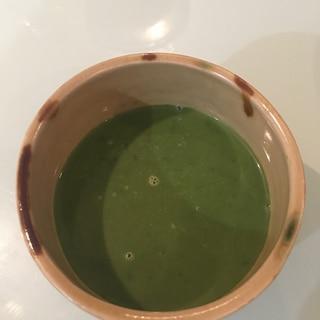ほうれん草と枝豆で簡単スープ