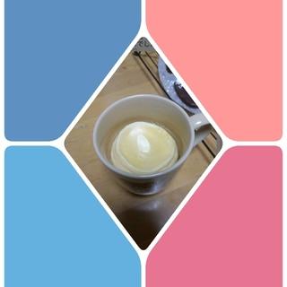 マグカップで、手作りプリン