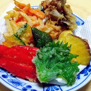 【彩り美しい野菜の天ぷら】