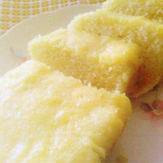レンジで3分 しっとりふわふわ蜂蜜レモンケーキ