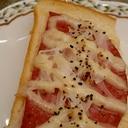 ボロニアソーセージ&玉ねぎマヨのトースト