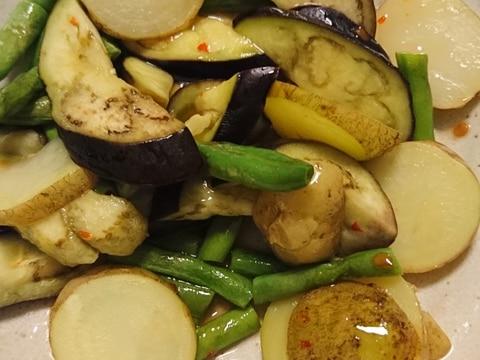 夏野菜のレンチン蒸し