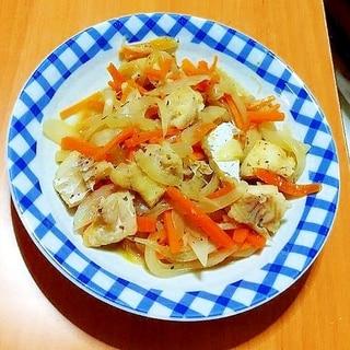白身魚と野菜の洋風蒸し