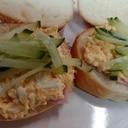 卵サラダきゅうりサンドイッチ