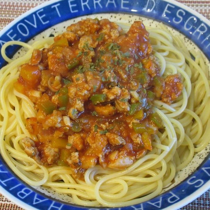 イタリアントマトソースで!ミートソーススパゲティ
