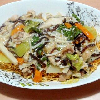 きのこ類と野菜たっぷり♪皿うどん♪