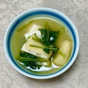 ♡ほうれん草と豆腐のお味噌汁♡