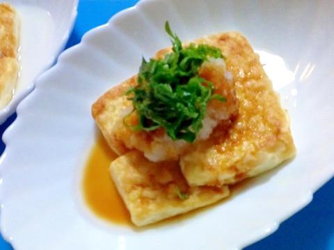 豆腐のおろしポン酢ステーキ
