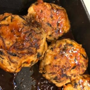 ふんわり♪豆腐とヒジキ入り鶏つくね