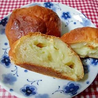 卵、バター、牛乳無しのヘルシークリームパン!