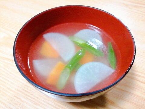 大根と人参といんげんの中華スープ
