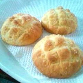 簡単!ホットケーキミックスでちびメロンパン(6個)