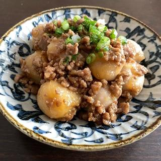 冷凍里芋で簡単に♪豚ひき肉と里芋のしょうが焼き