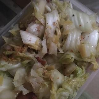 文旦と梅のさわやか酸っぱい白菜漬け