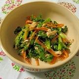 春菊と鶏ささみのマスタードサラダ
