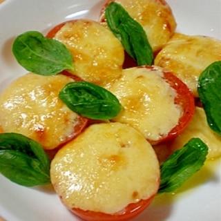 トースターで簡単アツアツ♪トマトのチーズ焼き♪
