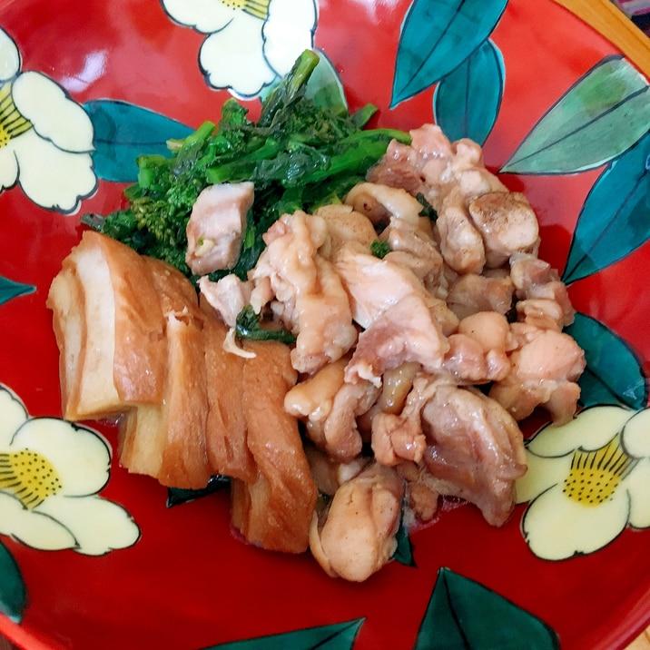 春色♪菜の花と鶏肉の煮物