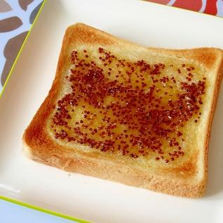 簡単☆ハニーマスタードバタートースト