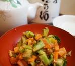 【福島食材】芽キャベツ茎とニンジンのピーナッツ和え