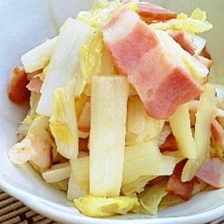 つくり置いて美味しい☆白菜とベーコンの炒め♪