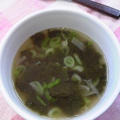 簡単!ネギと海苔のスープ♪