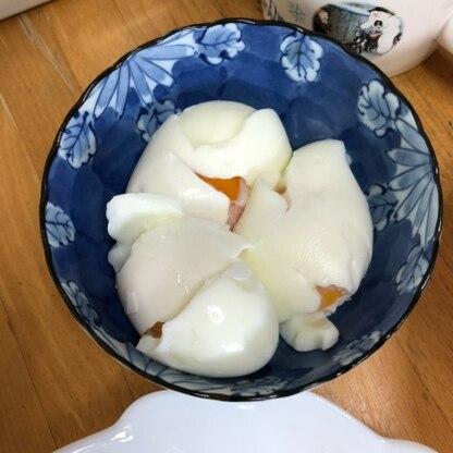 こんにちは! 初めてのゆで卵、失敗しちゃいました。 でもこれからも参考にさせていただきますね!