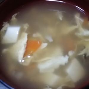 舞茸のかき玉汁