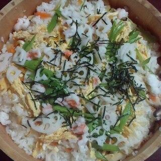 海老と蓮根入りちらし寿司