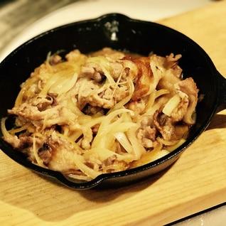 スキレットで作る簡単豚の生姜焼き!