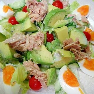 アボカドとゆで卵ツナのサラダ