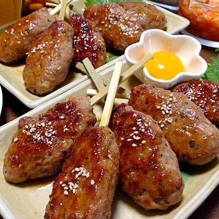 豚ひき肉のつくねです☆甘辛味でふっくらやわやわ~♪